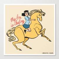 tina belcher Canvas Prints featuring Tina Belcher by Carolyn C Nowak