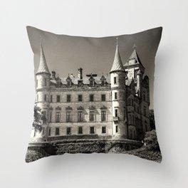 Dunrobin Castle Scotland Throw Pillow
