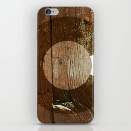 Rustic brown wooden Colorado flag iPhone Skin