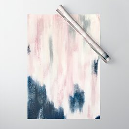 Blush Pink and Blue Pretty Abstract Wrapping Paper