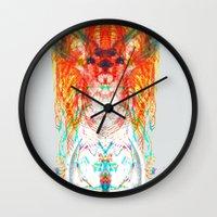 dream catcher Wall Clocks featuring Dream Catcher by Renaissance Youth