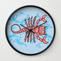 scorpio Wall Clocks featuring Scorpio by Giuseppe Lentini