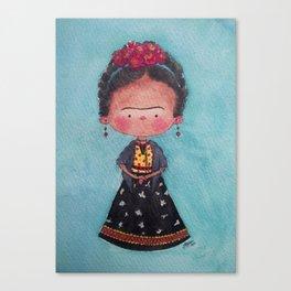 Frida - Watercolor Canvas Print