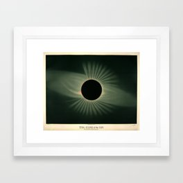Total solar eclipse by Étienne Léopold Trouvelot (1878) Framed Art Print