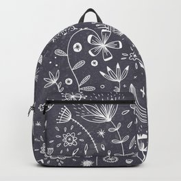 Chalkboard Flowers Backpack