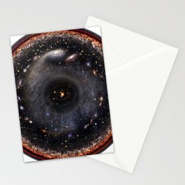 Observable universe logarithmic illustration Stationery Cards