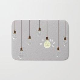 Light Bulbs Bath Mat