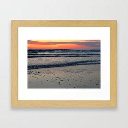 Flagler Beach Sunset Framed Art Print