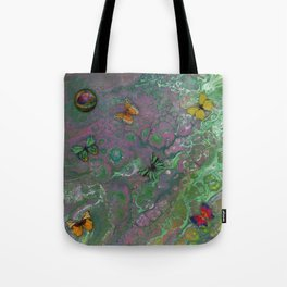 Rainbow Butterfly Pour Tote Bag