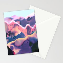 Purple moutains Stationery Cards
