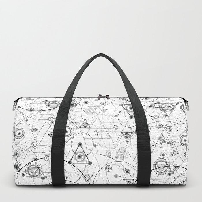 Sacred geometry and geometric alchemy design Duffle Bag