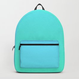 Blue Green Ombre Backpack
