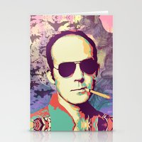hunter s thompson Stationery Cards featuring Hunter S. Thompson by victorygarlic