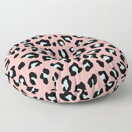 Leopard Print - Icy Peach Floor Pillow
