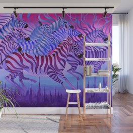 Flying above the sky. Wall Mural