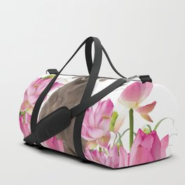 Weimaraner Lotos Flowers Duffle Bag
