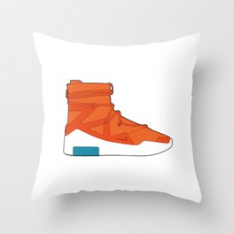 Fear of God (orange) Throw Pillow