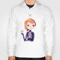 bones Hoodies featuring Bones by Nan Lawson