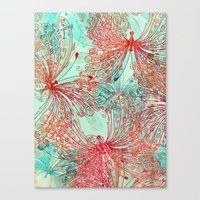 butterfly Canvas Prints featuring Butterfly Pattern by Klara Acel