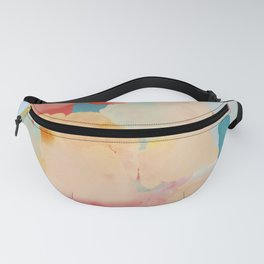 peachy landscape abstract Fanny Pack