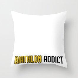 Biathlon Cool Winter Sport Ski Shooting Gift Idea Throw Pillow