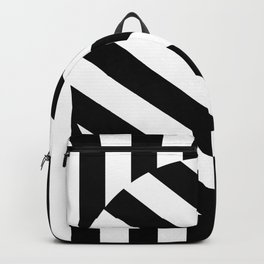 The Turning Point - Abstract Minimalism Art (3) Black & White Backpack