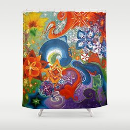 A Sprinkling for the May Queen Shower Curtain