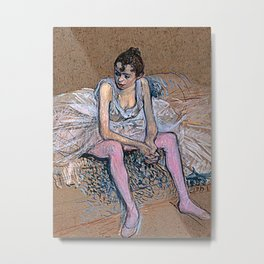 Dancer in Pink Tights Metal Print
