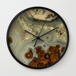 Colorfull pattern of a mineral stone Wall Clock