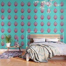 Crystal Cluster- Pink & Mint Wallpaper