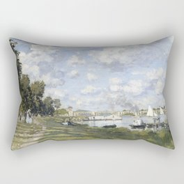 1872-Claude Monet-Bassin d'Argenteuil-60 x 80 Rectangular Pillow