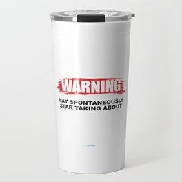 Warning May Spontaneously Star Taking About Darts Players Sports Hobbies Dart Lovers Travel Mug