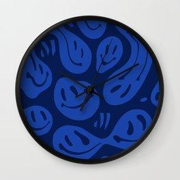 Liquify Cool Blue Wall Clock