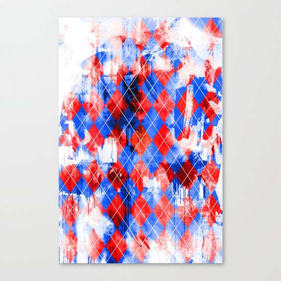 Urban Argyle Canvas Print