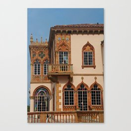Architecture of Ca'D'Zan -House of John Ringling III Canvas Print