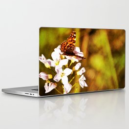 Gold Butterfly Laptop & iPad Skin