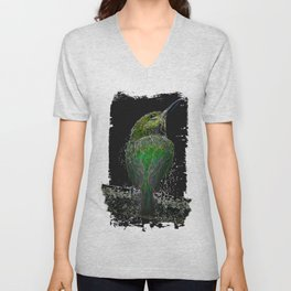 Tody Bird digital art Unisex V-Neck