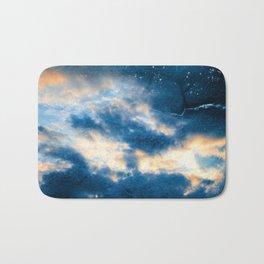 Celestial Grunge Clouds Bath Mat