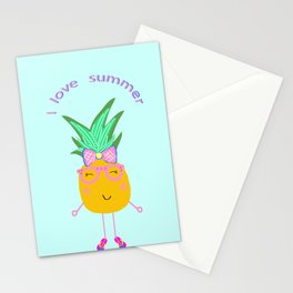 Cute Hipster Pineapple Stationery Cards