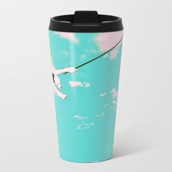 NO FISHING Metal Travel Mug