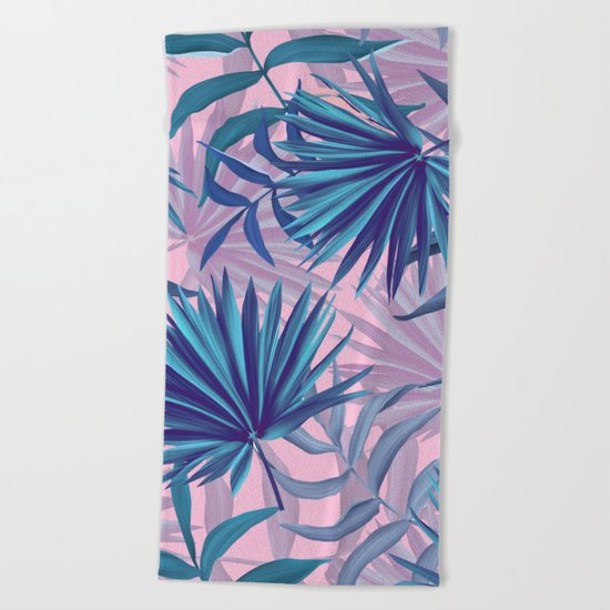 pink tropic  Beach Towel