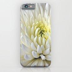 White Dahlia Flower Slim Case iPhone 6s