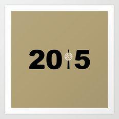 2015-NY-Gold Art Print