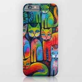 Colourful Kittens iPhone Case