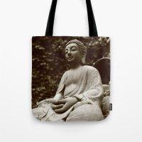 buddha Tote Bags featuring Buddha by Falko Follert Art-FF77