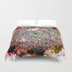 Raspberry Swirl Duvet Cover