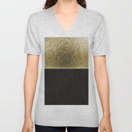 Deco golden glam Unisex V-Neck
