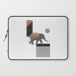 Elephant Mosaic I, Geometric Animal Laptop Sleeve