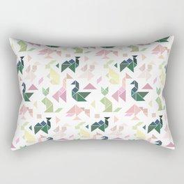 Pastel Tangrams Pattern Rectangular Pillow