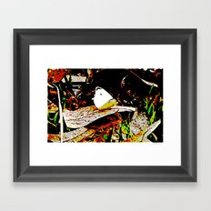 Cabbage White Butterfly Comics Framed Art Print